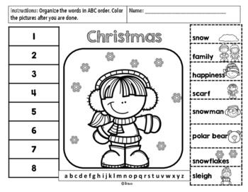 Navidad ABC Order/ Christmas ABC order