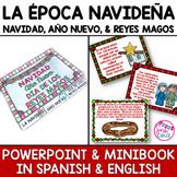 Navidad, Año Nuevo, Reyes Magos PowerPoint and Mini Book