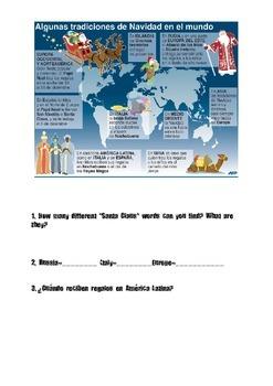 Navidad Authentic Stations Activity