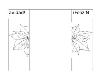 Navidad Christmas Foldable for Spanish Interactive Notebooks