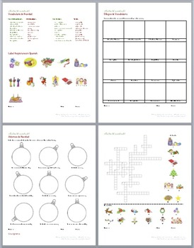 Navidad - Christmas Fun: Puzzles and Activities in Spanish