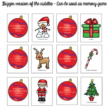 Navidad / Christmas Riddles for Interactive Notebooks