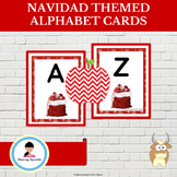 Navidad (Christmas) Themed Alphabet Cards Uppercase and Lowercase