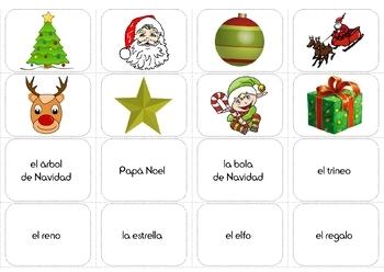Navidad - Christmas Vocabulary in Spanish - Activity Pack