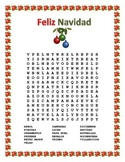Navidad- Christmas Word Search and Double Puzzle in Spanish