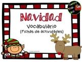 Christmas vocabulary worksheets (Spanish)