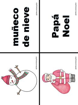 Navidad: Flashcards and Memory Game