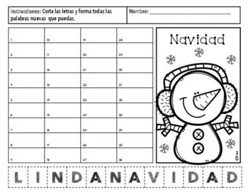 Navidad - Mas Palabras / Making New Words