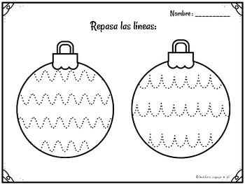 Navidad Motricidad Fina Grafomotricidad Flash Freebie Gratis Español