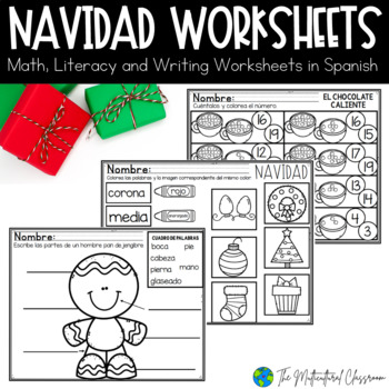 Navidad Packet! Christmas Reading, Math and Writing Packet in Spanish!
