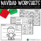 Navidad Packet! Christmas Reading, Math and Writing Packet