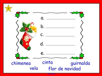 Navidad Palabras en Orden Alfabetico