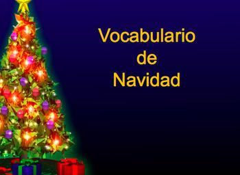 Navidad PowerPoint , Vocabulary Activity and Bingo Card in Spanish