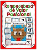 Navidad Rompecabeza de Valor Posicional (Winter math activity in Spanish)