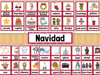 Navidad SPANISH Christmas Vocabulary Word Wall