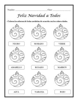 Navidad: Spanish Christmas Activities (1st to 5th)