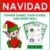 Navidad: Spanish Christmas Games, Flash Cards, and Word Wall (1st to 5th)