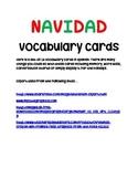 Navidad Vocabulary Cards- Spanish English Christmas Activity