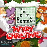 Spanish Christmas Activities x2  Word Search + Focusing on