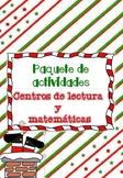 Navidad: centros de lectura y matemáticas / NO PREP  1st g