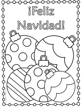 Coloring Pages For Christmas In Spanish. Navidad Christmas Spanish by Tapas for Two Resources  TpT