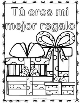 Navidad Christmas Spanish coloring
