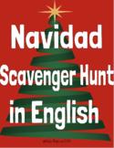 Navidad Scavenger Hunt in English - Christmas in Spanish S