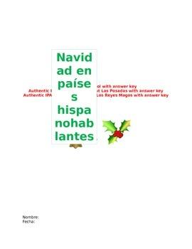 Navidad en paises hispanohablantes activity pack