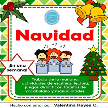 Christmas Spanish.Navidad In A Week Christmas Spanish Activity Book
