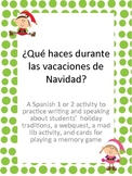 Navidad or Christmas Traditions, Webquest, and mad libs for Spanish Students