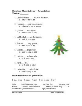 Navidad y Año Nuevo - Spanish Christmas Mini Bundle
