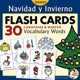 Navidad y Invierno - Spanish Christmas and Winter Flash Cards & Memory Game
