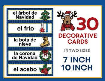 Navidad y Invierno - Spanish Christmas and Winter Vocabulary Word Wall
