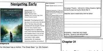 Navigating Early -  by Vanderpool - Novel Unit