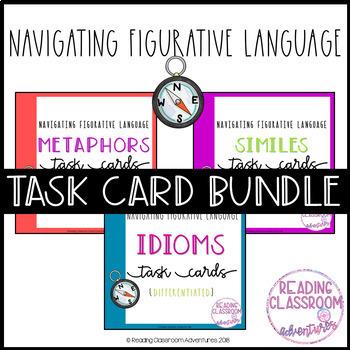 Navigating Figurative Language Task Cards {Growing} Bundle