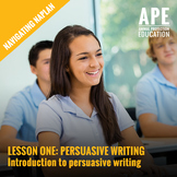 Navigating NAPLAN | Intro to Persuasive Writing | Lesson One Plan