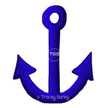 Navy Anchor - Navy Anchor clip art, beach art, Printable Tracey Gurley Designs