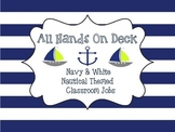 Navy And White Nautical Classroom Jobs