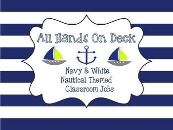 Navy And White Nautical Classroom Jobs