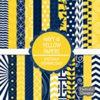Navy And Yellow Paper Pack