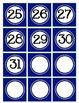 Navy Blue Calendar Numbers