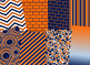 Navy Blue & Orange Digital Papers (Auburn University Team Colors)