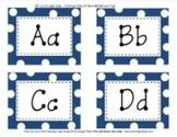Word Wall Navy Blue Polka Dot Alphabet Tags Classroom Decor