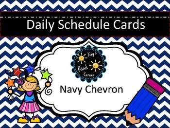 Navy Blue Schedule Cards