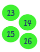 Navy Blue and Lime Green Numbers 1-20