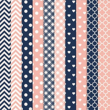 Navy & Blush Vector Owls & Papers - Baby Owl Clipart, Owl Clip Art, Baby Owls