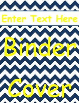 Navy Chevron Binder Cover