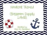 Navy Chevron Nautical Supply Labels