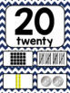 Navy Chevron Number Posters 0-20