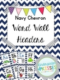 Navy Chevron Word Wall Headers